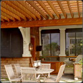 Outside Kitchen Bahama Shutters