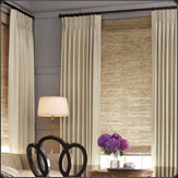 Roman Shades with Drapes