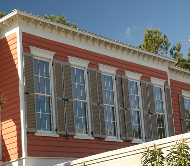 Raised Panel & Louvered Shutters